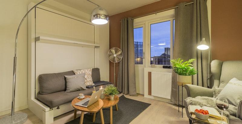 Flott og innbydende ettroms leilighet på Torshov/Øvre Løkka