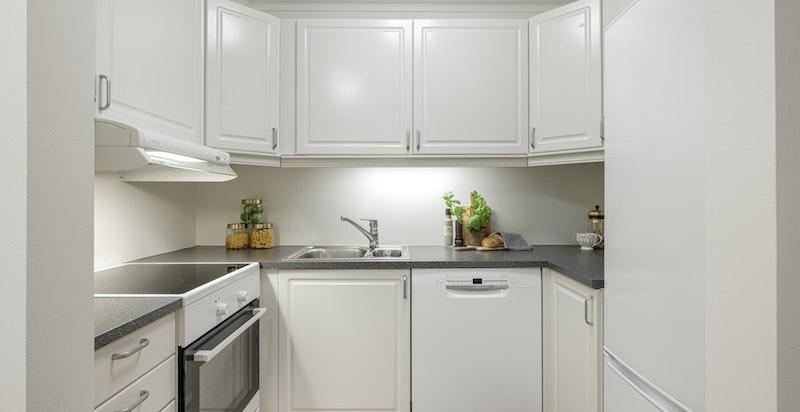 Kjøkkenet har fått nye hvitevarer i 2021