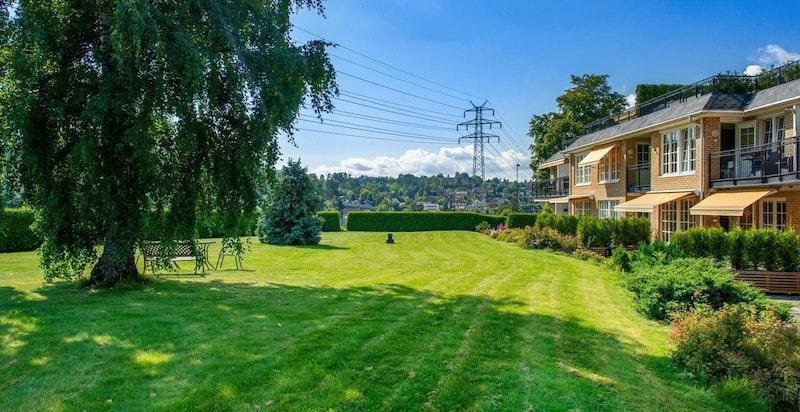 Sameiet har parkmessige og flotte uteområder på nær 3 mål