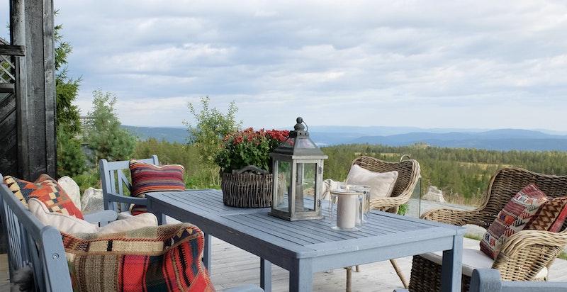 Vakker utsikt fra terrassen