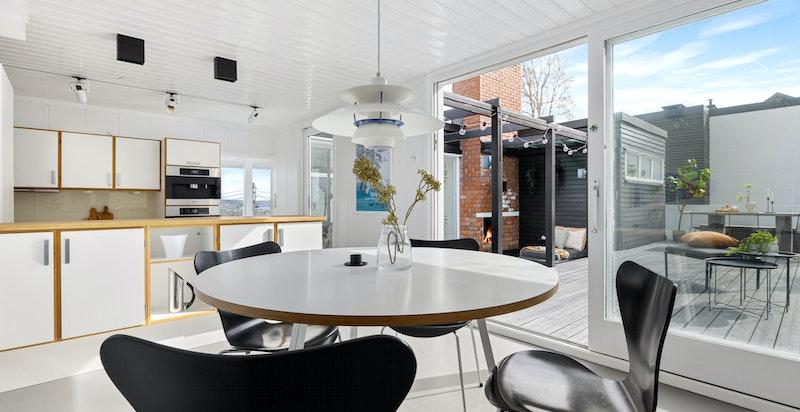 Spiseplass tilknyttet kjøkken