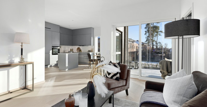 Velkommen til Bærumsveien 225D- En ny og lekker 3-roms hjørneleilighet på populære Villa Bekkestuene.