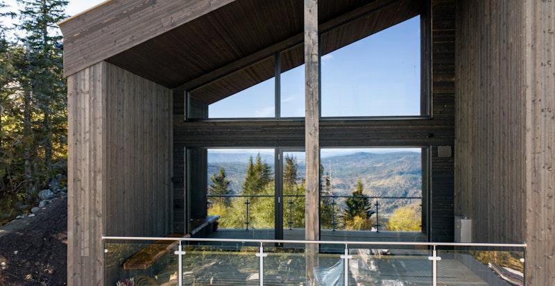 Bilde av fasade - Hus A, tatt høsten 2020