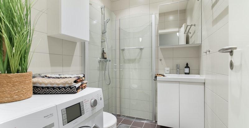 Pent dusjbad/wc (nr.2) med opplegg til vaskesøyle