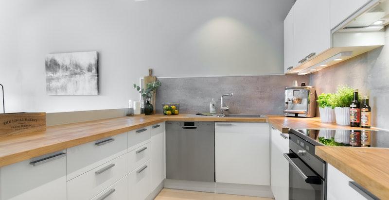 Moderne og praktisk kjøkken
