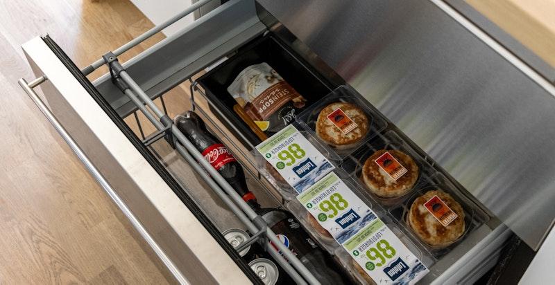 Detalj kjøkken - kjøleskuffer fra Norcool