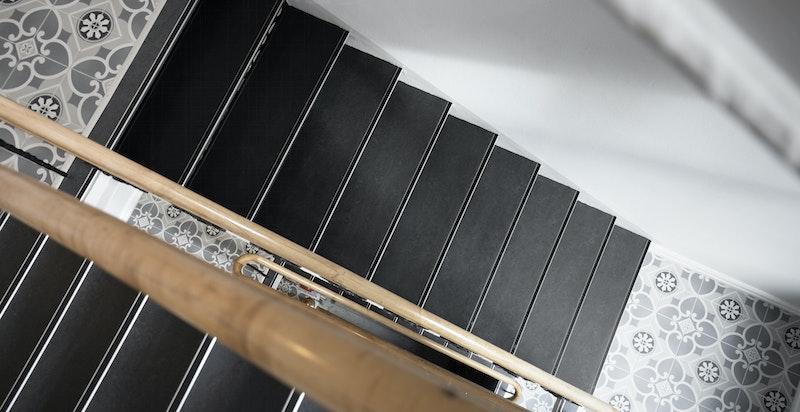 Trappeoppgangen er nyoppusset i 2021