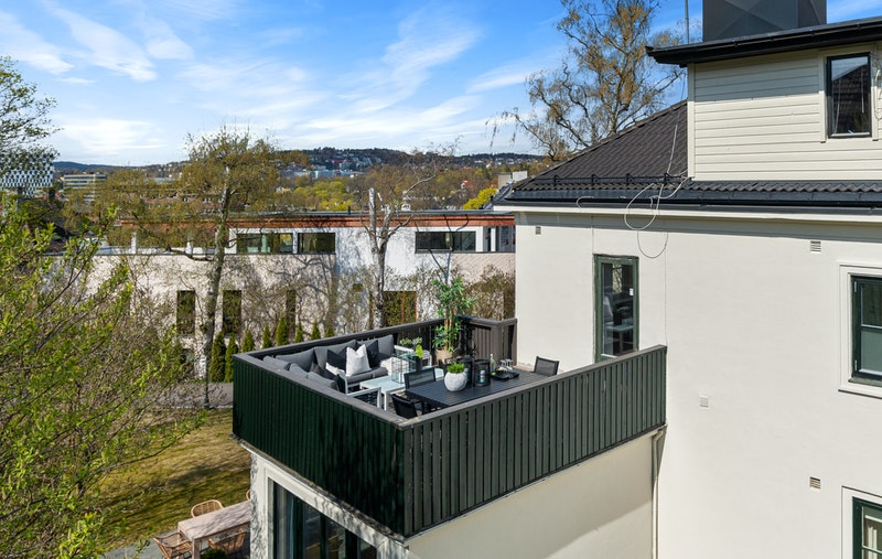 Takterrasse med gode solforhold