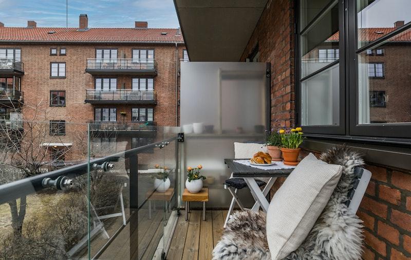 En lys og fin 2-roms leilighet med vestvendt balkong.