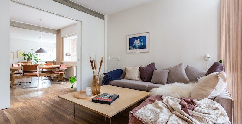 Det innerste rommet benyttes i dag som et kombinert stue-/sove-/kontorrom