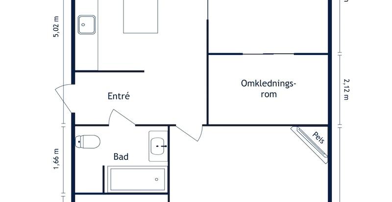 Cort Adelers gate 35 - 2D Floor Plan
