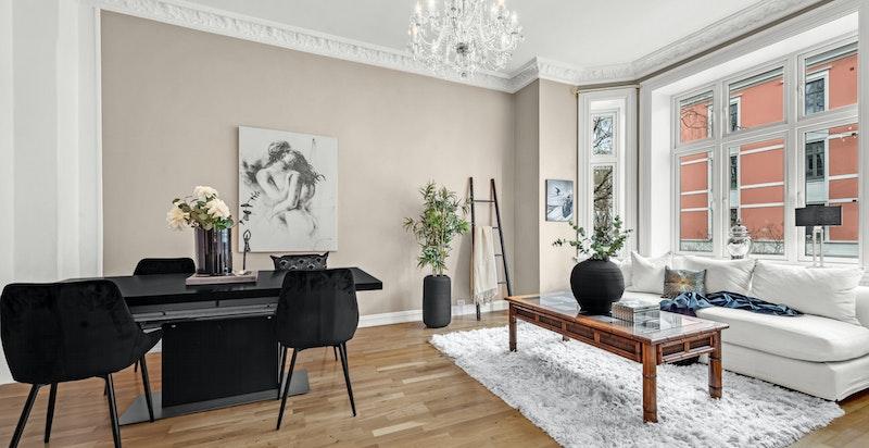 Velkommen til denne lyse og pene 3-romsleiligheten sentralt beliggende på Fagerborg/Majorstuen
