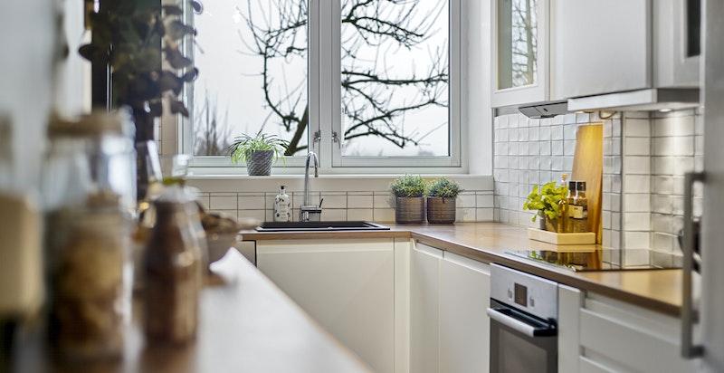 Kjøkken med fritt utsyn møt øst