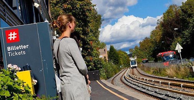 Her går man til Vinderen T-banestopp på 5 minutter