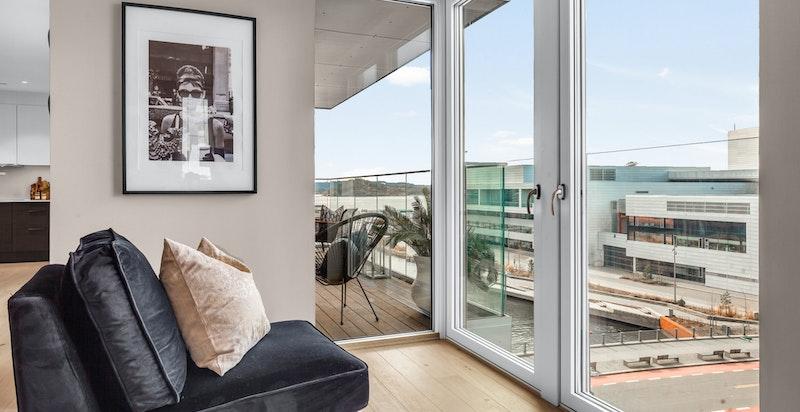 Utsikt fra stuen.