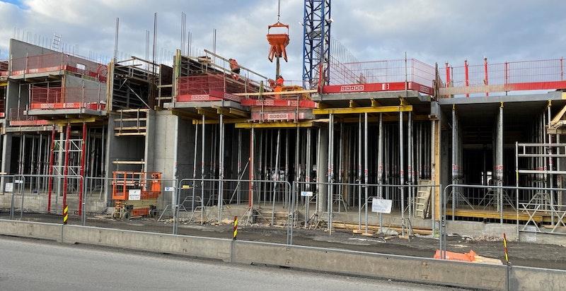 Bilder fra byggeplassen