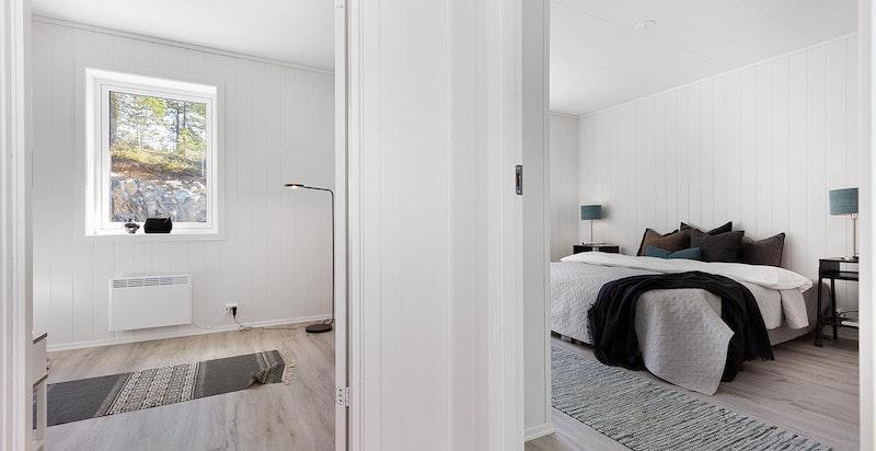 - Bildet er tatt i en tilsvarende, speilvendt leilighet i prosjektet, som ligger i andre etasje. Se planløsning for riktig leilighet