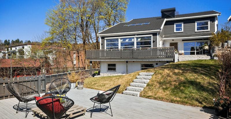 Terrasse med gode solforhold