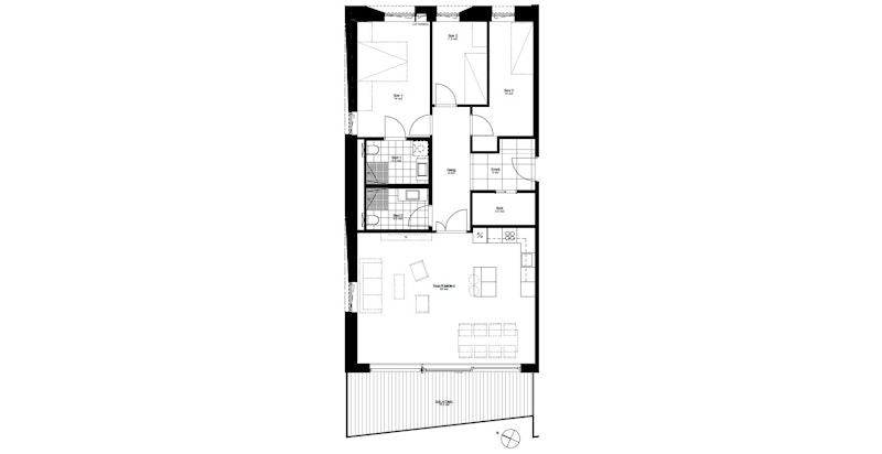 Plantegning leilighet B401