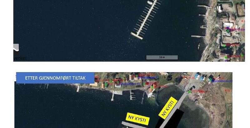 Torød Båtforening - kart (for fastboende - se nærmere beskrivelse i prospektet)