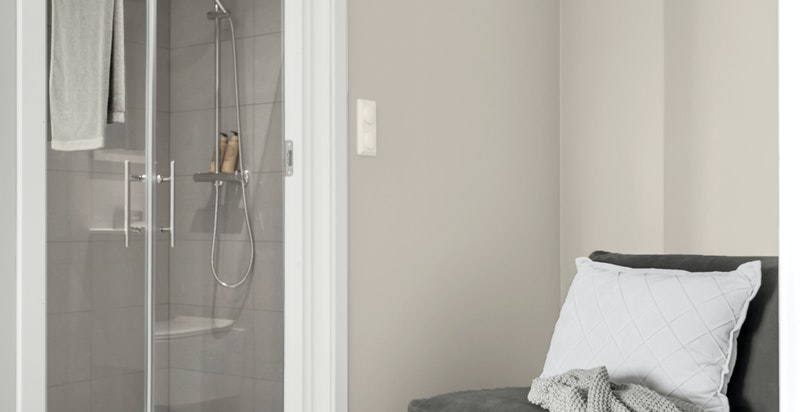 Hovedsoverom har direkte tilknytning til eget bad