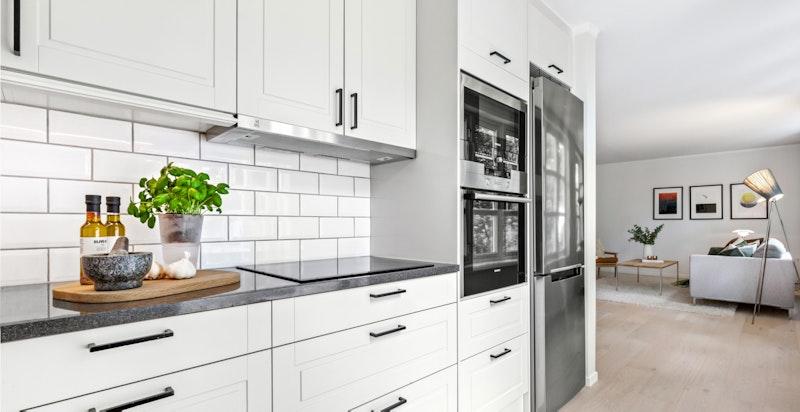Lyst og pent kjøkken med Norema innredning fra 2014