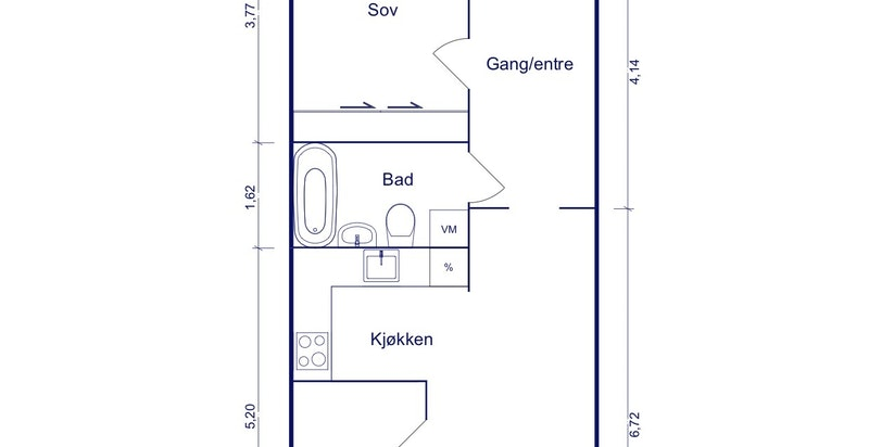 Alternativ planskisse - forslag til inntegning av soverom 2