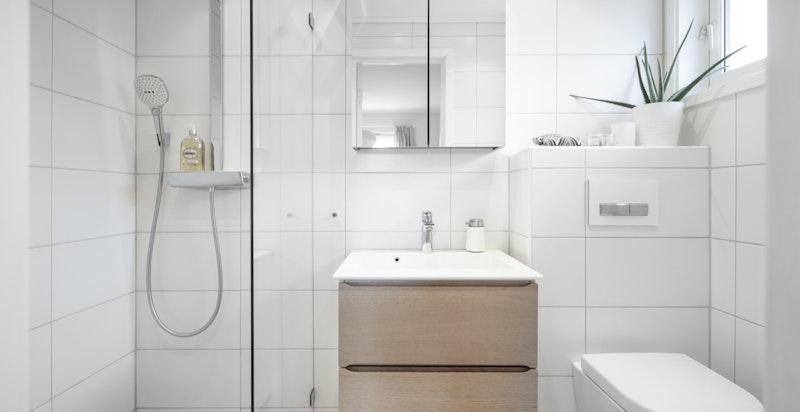 Bad i 1 etg ble bygget nytt i 2013