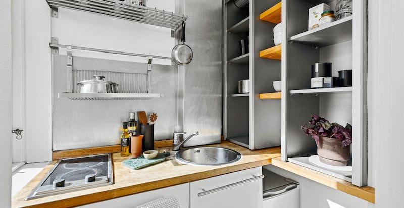 Kjøkken med behov for modernisering