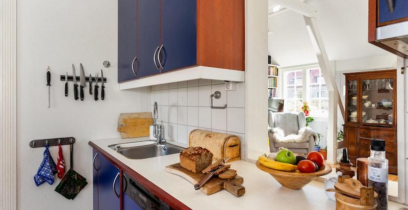 Detaljer kjøkken/stue.