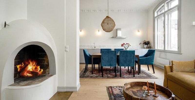 Velkommen inn i Niels Juels gate 25, så sentralt du kan komme på Frogner.