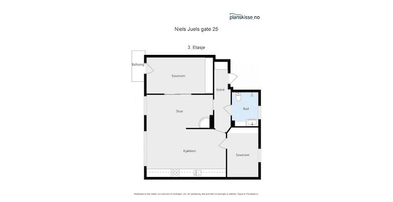 Plantegning - Niels Juels 25, 3.etasje