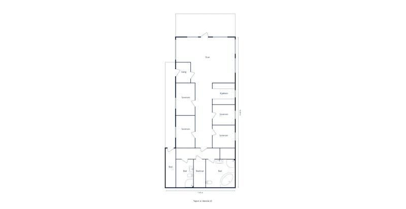 Trollhulen 350 - 2D Floor Plan