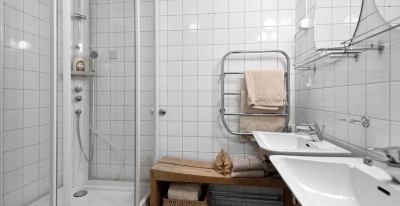 Badet har eldre standard.