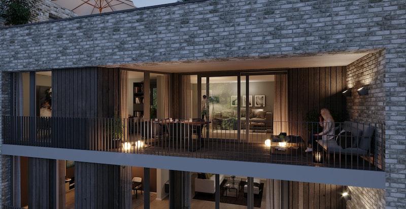 Illustrasjon av en tilfeldig leilighet i prosjektet