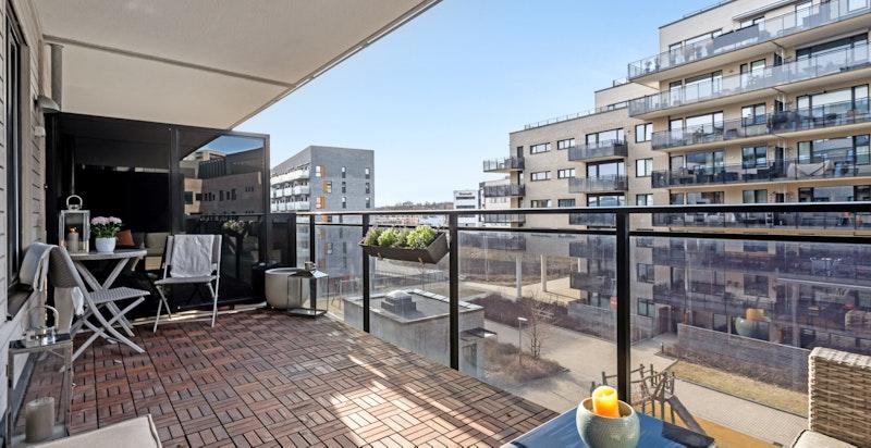 Velkommen til Fernanda Nissens gate 4A, en lekker og oppgradert 2-roms med garasjeplass