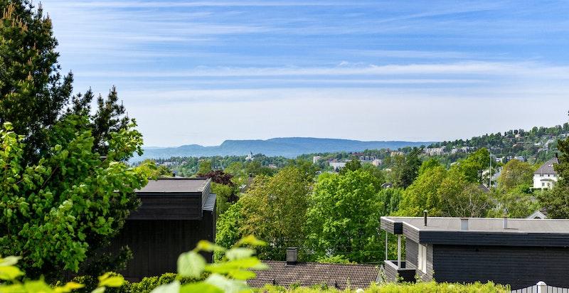 Utsikten fra balkongen mot Oslofjorden