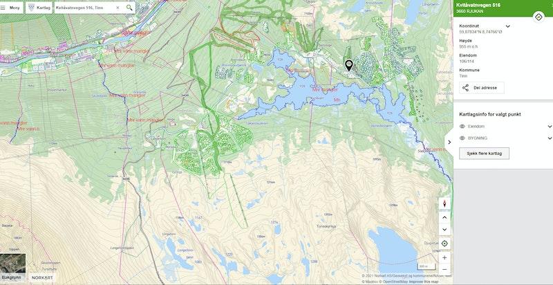 Kvitåvatnvegen 516 leil F25 på Gaustatunet i Gaustaområdet