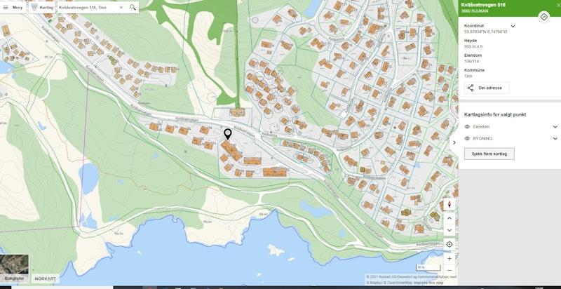 Kvitåvatnvegen 516 leil F25 på Gaustatunet i nærområdet