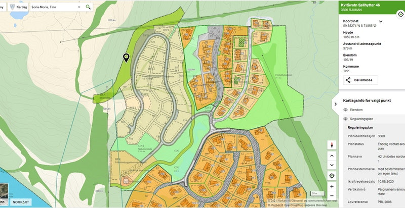 Reguleringsplan Toppen H2 Kvitåvatn ved Kvitåvatnlia og Soria-Moria på beste Gaustablikk