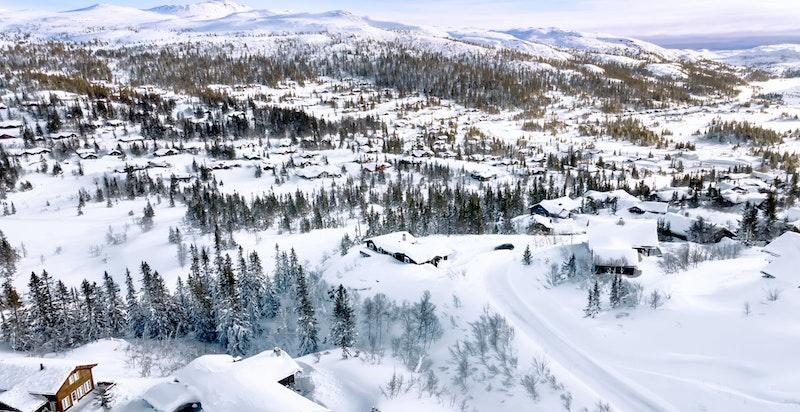 Foto fra området fra februar 2021