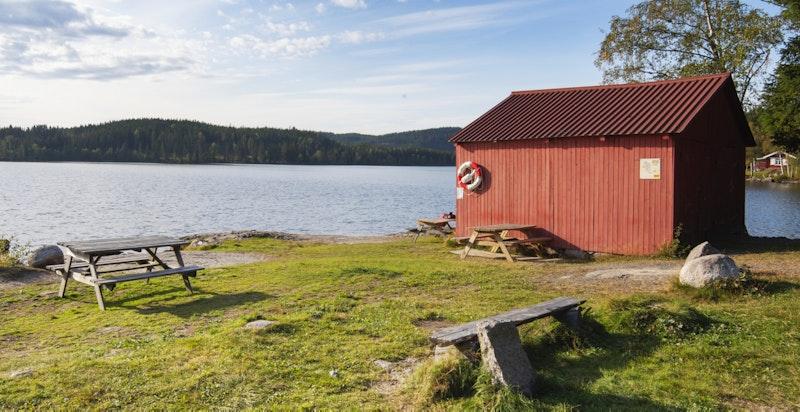 Området rundt Ørfiske - Badeplasser samt sitteplasser for å nyte lunsjen ute