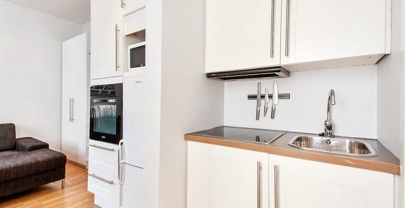 Integrert stekeovn, koketopp og kjøl/frys