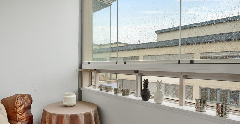 Innglasset balkong på 3 m2