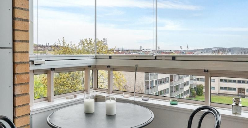 Flott utsikt fra balkongen