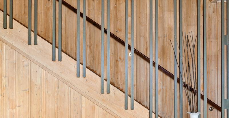 Detaljbilde fra trapp - tidsriktig design