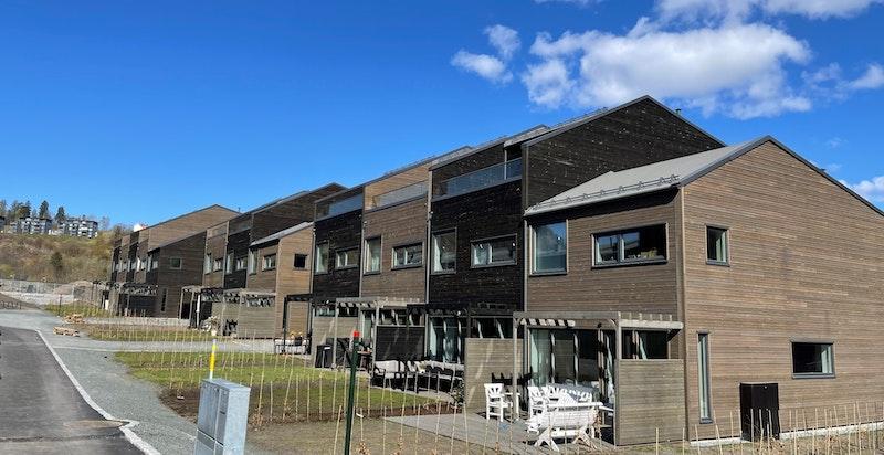 Tilsvarende rekkehus i byggetrinn 1 som ble ferdigstilt 1.kvartal 2021