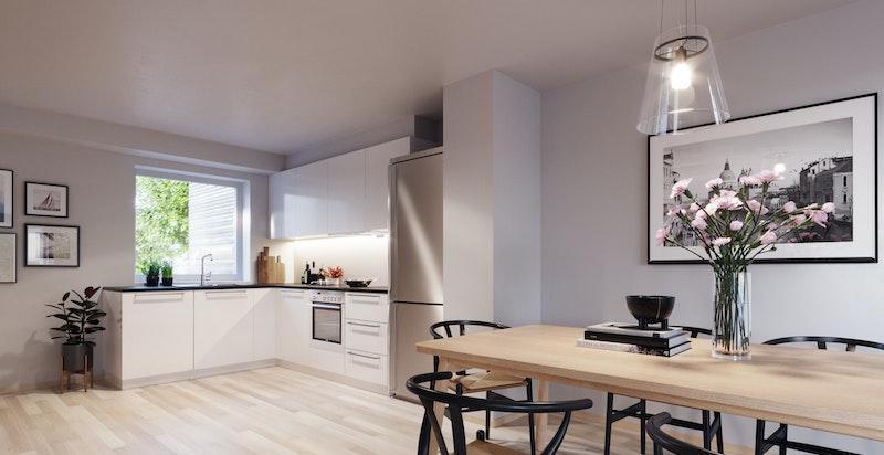 Illustrasjon av kjøkken