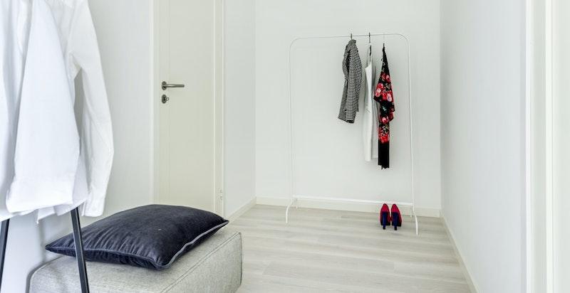 Walk-in closet.