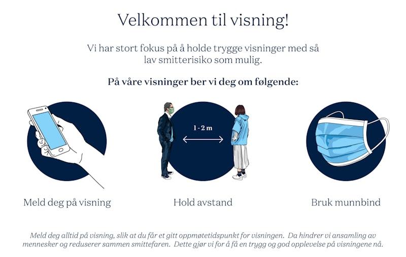 Plakat - trygge visninger korona